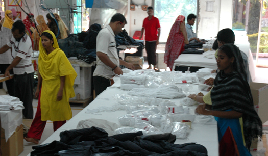 Preparing garments for exporting purpose