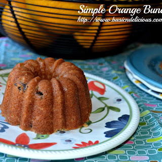 Simple Orange Bundt Cake Anniversary #BundtaMonth