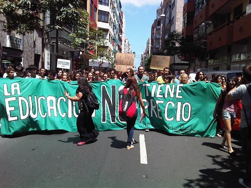 Manifestación Estudiantes 22-V-2012 (Gran Canaria)