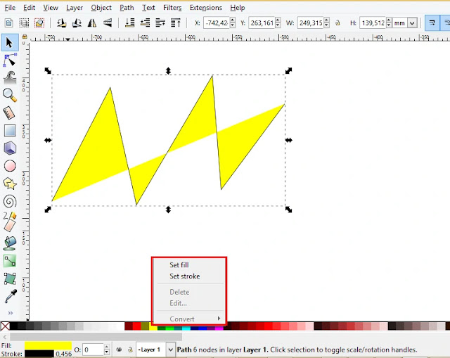 Cara Mengisi Warna Fill Dan Outline Objek Inkscape