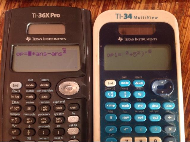 Eddie's Math and Calculator Blog: TI-34 II, TI-34 Multiview, TI-36X