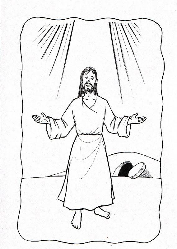 Dibujos Catolicos Resurrecion De Jesus Para Colorear Pintar E