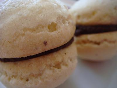 Hazelnut macarons with chocolate ganache filling