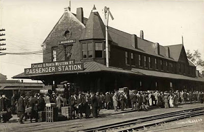 The second Chicago & Northwestern Railway Passenger Depot in Madison stood at the northeast corner of Blair and Wilson.