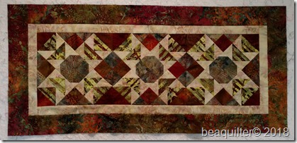 batik table runner accuquilt qube