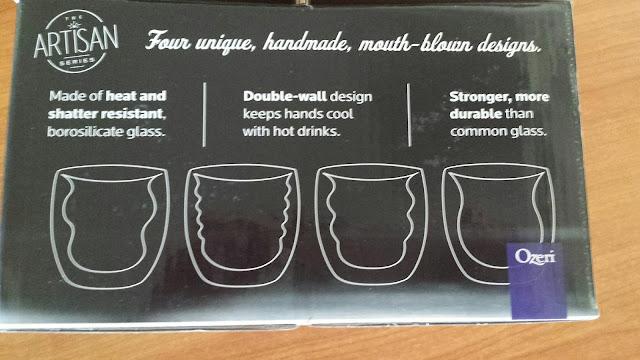 #ozeri Curva Artisan Series Double Wall Beverage Glasses
