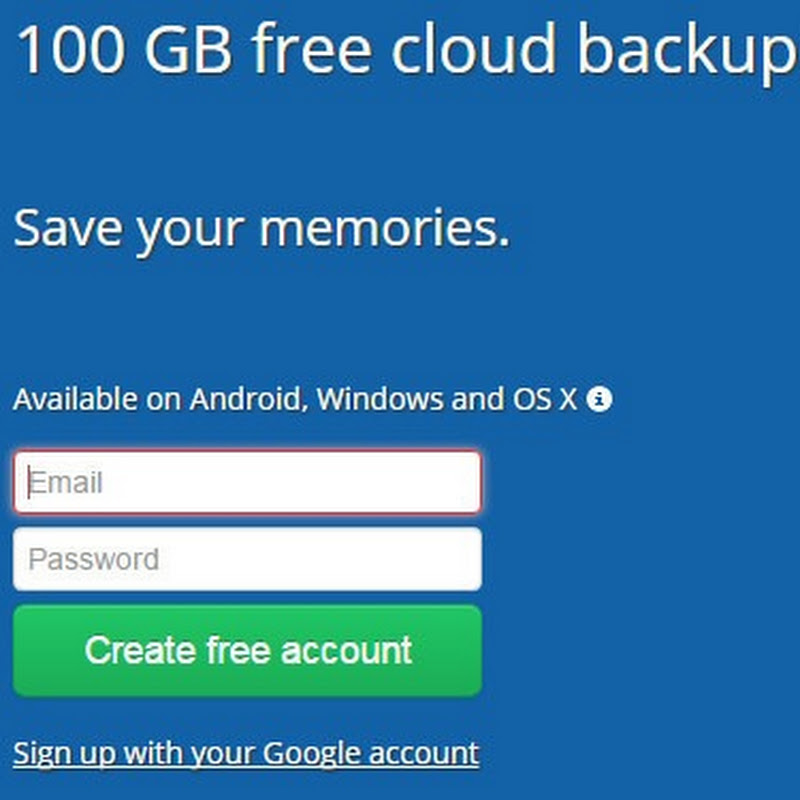 100 GB Free Backup By Deego