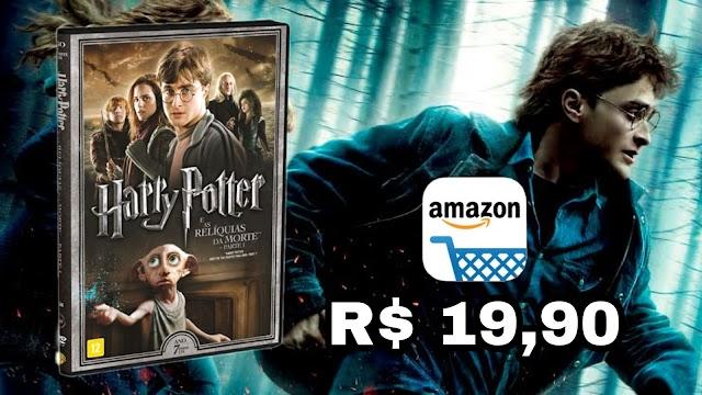 DVD DUPLO: Harry Potter e as Relíquias da Morte Parte 1 por apenas R$ 19,90 na Amazon