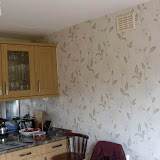 Feature wall in new open plan kitchen