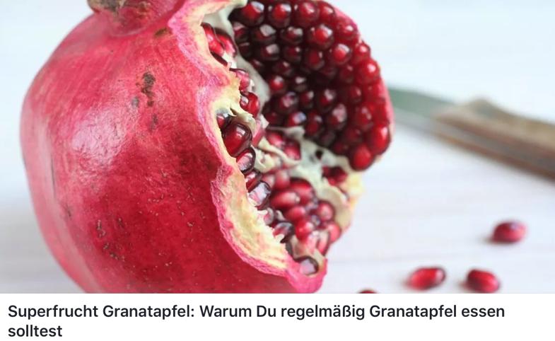 Superfrucht Granantapfel: Warum solltest Du dieses Obst essen?