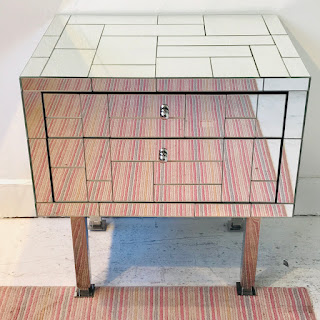 Mondrian Mirrored End Table #1