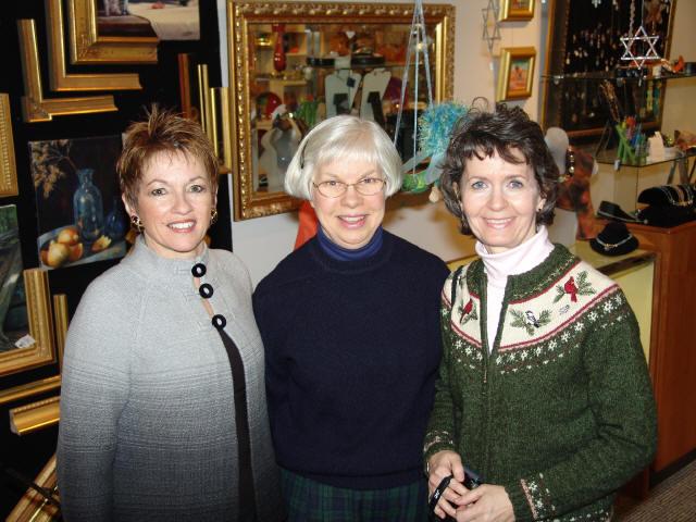 GWBHS members - Sue Williams, Helen Jane Peters & Gina Gregory