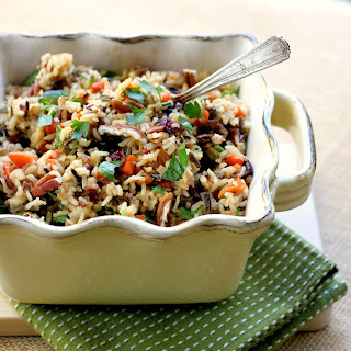 Wild Rice with Dried Fruit and Pecans
