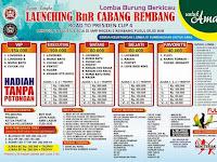 Ikuti Lomba Burung Launching BnR Rembang untuk Amal.