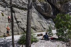Climbing at 'Palestra Rio Degli Uccelli'