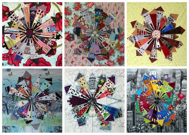six months of Dresden Neighborhood Quilts by Kim Lapacek