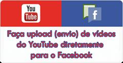 upload videos diretamente para o facebook, não compartilhar copy
