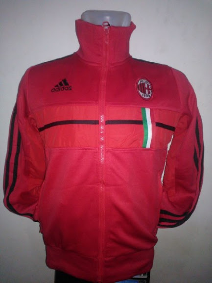Jual Jaket AC Milan Original Warna Merah Terbaru