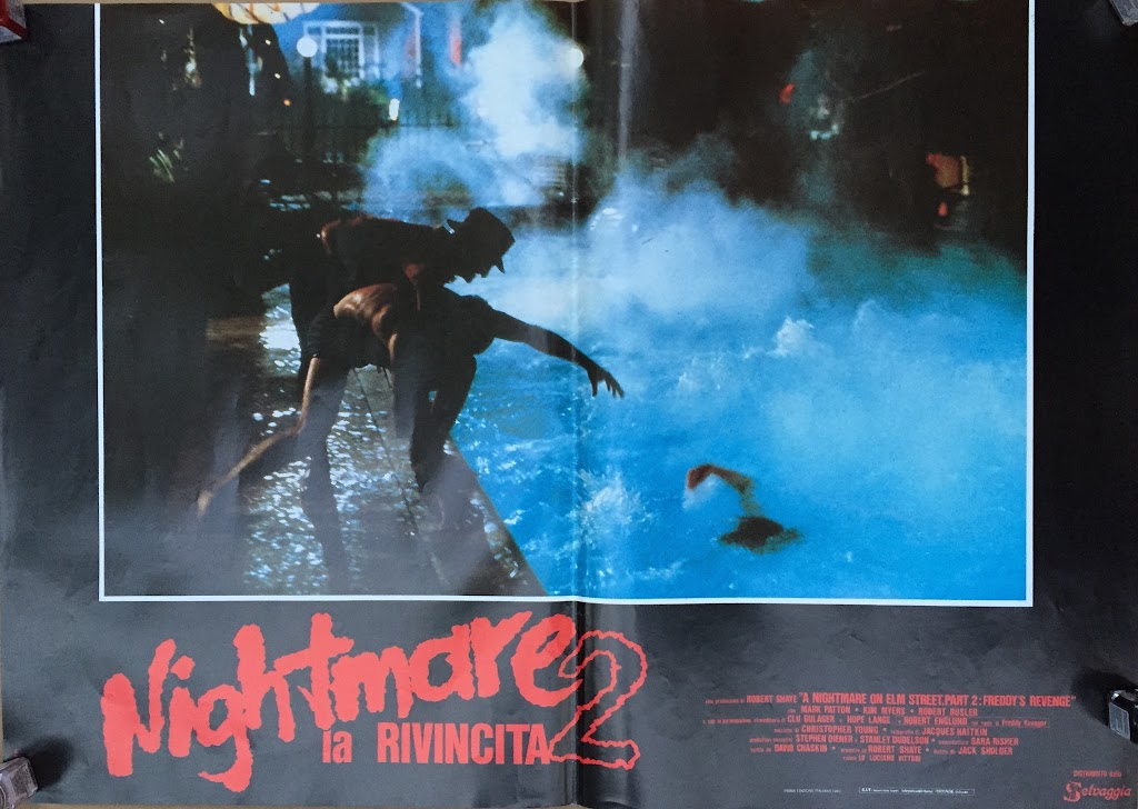 Italian Lobby card Nightmare 2 5 of 6  26x19 #1