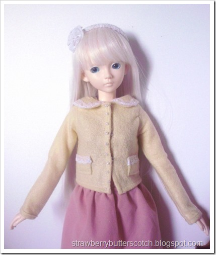 Cute felt coats for ball jointed dolls.