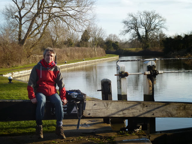 Sitting on the lock gate