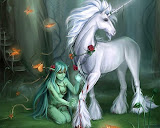Green Fairy And The Unicorn