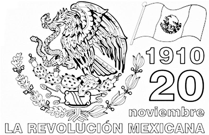 Imagen de La revolución Mexicana 20 de noviembre de 1910 para colorear, pintar e imprimir