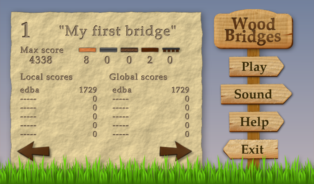 Wood Bridges - screenshot