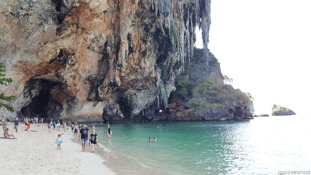 Princess Cave, located at the southern end of the beach.