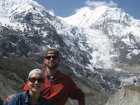 Gangapurna peak and glacier