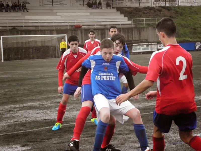 Instante partido de cadetes (ida) Numancia - As Pontes (18/01/2014)