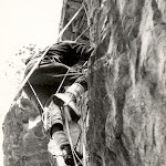 1969 approx Geoff Scott how not to climb Swanage.jpg