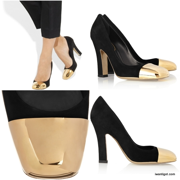 Mirrored-heel Metallic Pumps by Yves Saint Laurent