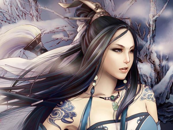 Samurai Warrior Fantasy Girl, Warriors