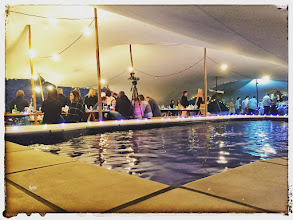 Photo: Freeform tent over our large saltwater swimming pool