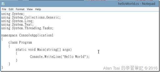 先建立一個helloWorld.cs的檔案