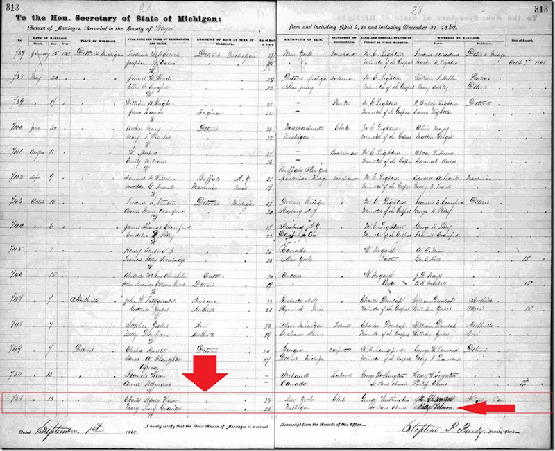 VERNOR_Charles H to GRANGER_Mary L_1868_Detroit_annotated