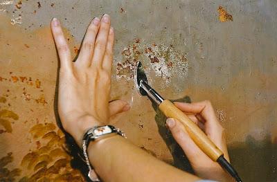 refixage des peintures murales du réfectoire Vauban des Invalides