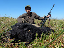 Mr Leserer again with a big wild boar, Carmor Plains