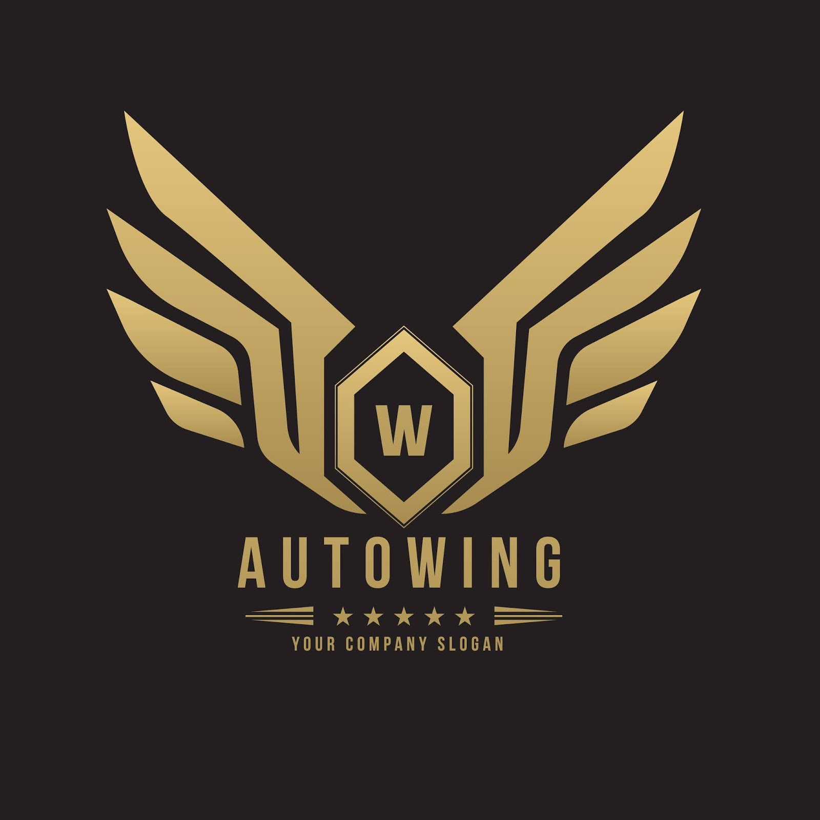 Car Automotive Logo With Eagle Wing Symbol Logo Template Free Download Vector CDR, AI, EPS and PNG Formats