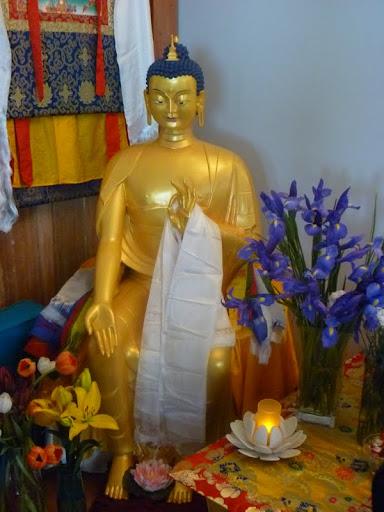 Maitreya at Chag-tong Cheng-tong Centre in Snug, Tasmania, Australia, June 2012.