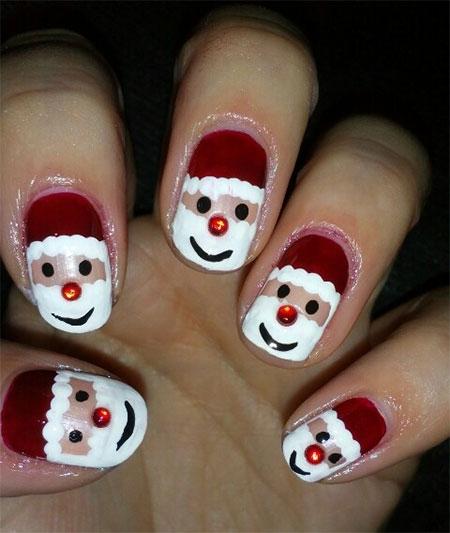 Santa Nail Art: Pretty Wonderful Santa Nails For Beginners