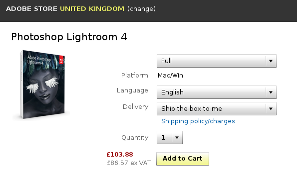 Lightroom 4 prices