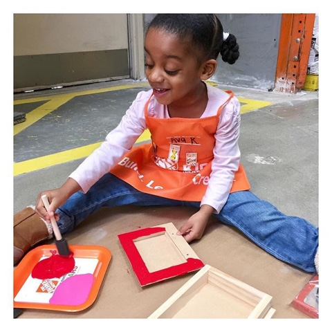home depot kids workshop black girl atlanta georgia top mom mommy motherhood blogger