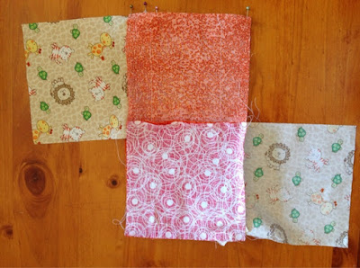 Photo cube - top and bottom panels sewn