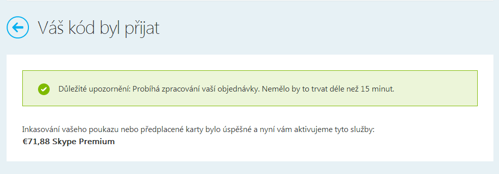 Skype kód