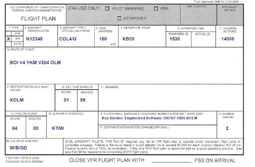 faa flight plan form - Seatle.davidjoel.co