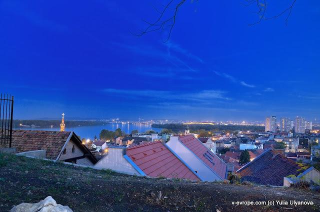 вид на Белград, район Земун