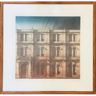 Signed 'Mid-Afternoon Facade' Etching