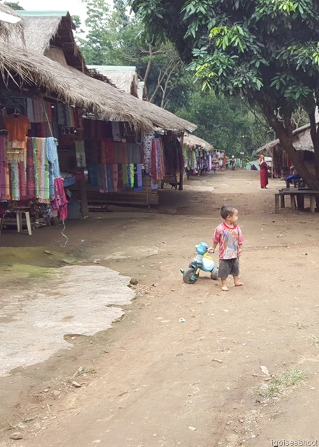 Young kid playing in the hill-tribe village